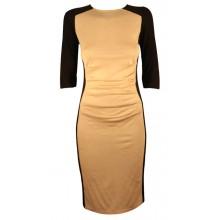 Contrast Colour Illusion Bodycon Dress