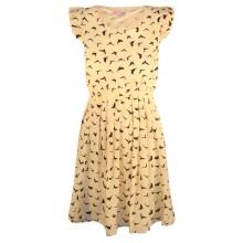 Cap Sleeve Print Dress